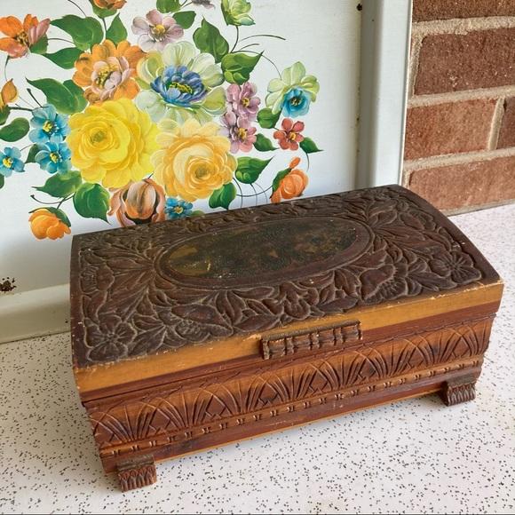 VTG Wood Jewelry Box